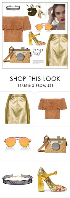 """""""Gold"""" by frenchfriesblackmg ❤ liked on Polyvore featuring Topshop, Givenchy, Charlotte Olympia, Humble Chic and Gucci"""