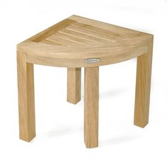 The Corner Spa Stool is made of Certified Teak Wood. This teak stool is great for saunas, jacuzzi rooms, and showers. Westminster Teak, Jacuzzi Room, Teak Outdoor Furniture, Spa Shower, Teak Wood, Stool, Bench, Relax, Corner