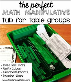Teaching and Tapas: 2nd Grade in Spain: Organizing your Math Manipulatives