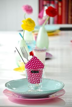Festive and Colorful tablescape