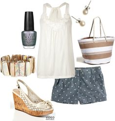 """Beachy Neutral"" by linzrebecca on Polyvore"