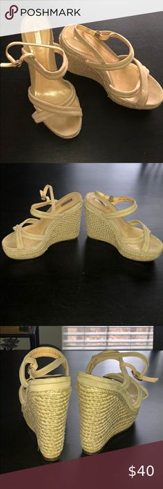 Scutz Nude Wedges Size 39 Good condition  Fits like a US 8.5/9 SCHUTZ Shoes Wedges
