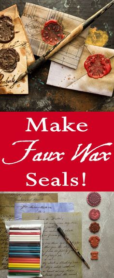 Faux Wax Seal Technique - Elegant and Quick! - The Graphics Fairy