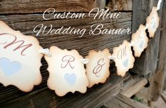CUSTOM Mini Wedding Banner  Wedding Decor  by JDPaperie on Etsy, $15.00