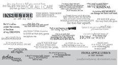 Random Fiona Apple Lyrics
