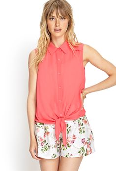 Chiffon Tie-Front Shirt | FOREVER21 #F21Contemporary