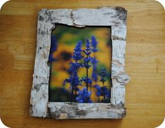 DIY Creating A Birch Bark Frame DIY Picture Frame DIY Home DIY Decor- my cousin made this for me!