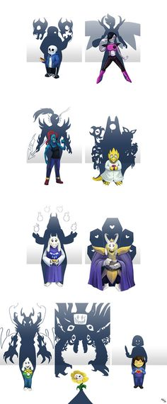 Undertale Shadows by LynxGriffin on DeviantArt