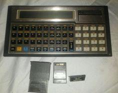 Vintage 1980's Hewlett Packard HP 71B Calculator ROM 1BBBB. + 3 modules. #HewlettPackard