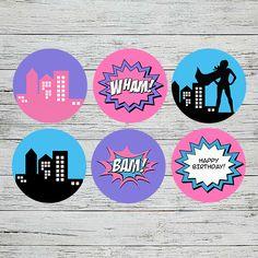 Supergirl Party Cupcake Toppers | Jackal Design