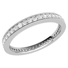A stunning Round Brilliant Cut full diamond eternity/wedding ring in 18ct white gold