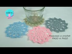 Diy And Crafts, Arts And Crafts, Crochet Circles, Crochet Videos, Crochet Granny, Crochet Necklace, Knitting, Create, Youtube