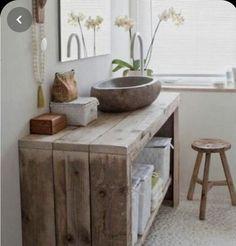 Wood Bathroom, Bathroom Furniture, Diy Furniture, Bathroom Ideas, Bathroom Pink, Bathroom Small, Natural Bathroom, Coaster Furniture, Bathroom Vanities