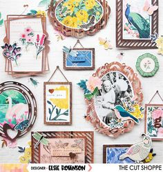 A gallery wall inspired layout using cut files from The Cut Shoppe and scrappy supplies from the Crate Paper Maggie Holmes Flourish collec. Scrapbook Paper Crafts, Diy Scrapbook, Scrapbook Pages, Envelopes, Smash Book Pages, Recipe Scrapbook, Crate Paper, Scrapbook Page Layouts, Grid Layouts