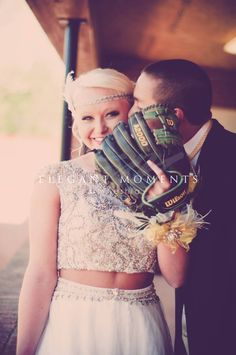 Cute prom baseball picture photo by Elegant Moments by Keshia www.elegantmomentsbykeshia.com