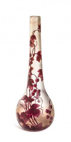 A Legras Cameo Glass Vase.