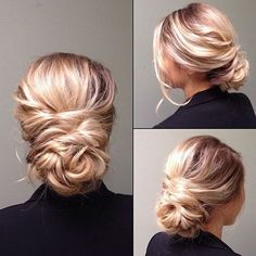love this softly twisted wedding updo ~ we ❤ this! moncheribridals.com