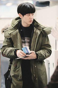 140105 EXO Chanyeol   Incheon Airport to Taiwan