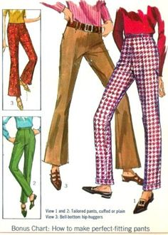 1960s Misses Tailored Pants In Straight Leg or by MissBettysAttic, $8.00