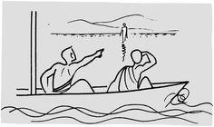 La marche sur les eaux Textes-Ecoles-bibliques Good News Bible, Jesus Drawings, Bible Illustrations, Christian Pictures, Bible Notes, Doodle Lettering, Church Banners, Biblical Art, Visual Aids