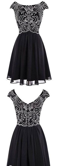 Short Beaded Homecoming Dress ,Short Wedding Dress, Prom Dresses Cocktail Dresses Graduation Dresses