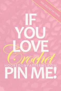 Do you love crochet too? Visit the Hooked On Patterns blog for FREE crochet patterns and more! #crochet #crochetpatterns #freecrochet #freecrochetpatterns #crochetblog #yarn #crochetlove