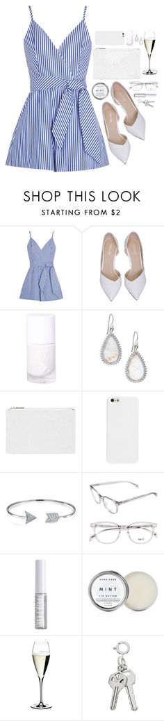 """""""Nautical Love"""" by vogue-breakfast ❤ liked on Polyvore featuring Finders Keepers, Eddie Borgo, Whistles, Bling Jewelry, Lord & Berry, Herbivore and Riedel"""