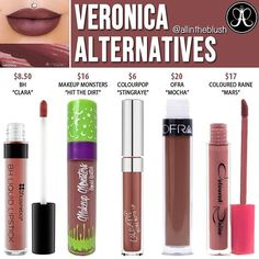 #VERONICA ALTERNATIVES 🍷👄 Please leave me your requests in the comments! 😊 #allintheblush #makeupslaves #trendmood #vegas_nay #makeup #beauty #hudabeauty #slave2beauty #insta_makeup #norvina #glamrezy #amrezy #makeupartist #motd #mua #makeupaddict #wakeupandmakeup #dupethat #dupe #lipstick #anastasiabeverlyhills #abh