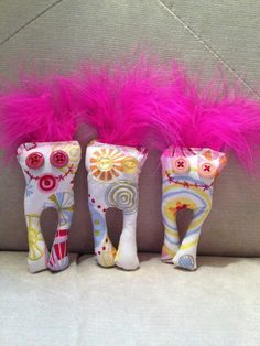 Kitty toy Ugg Lee.....filled with crinkly paper & catnip