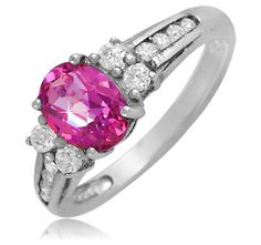 $14.99 - 1.2 Carat Pink Mystic Topaz Ring in Sterling Silver