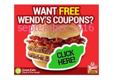 Wendys Coupons PROMO expires May 2020 Hurry up for a BIG SAVERS Wendy 's is a nationwide fast - food restaurant. Free Printable Coupons, Free Printables, Wendys Coupons, Dollar General Couponing, Coupons For Boyfriend, Coupon Stockpile, Grocery Coupons, Love Coupons, Extreme Couponing