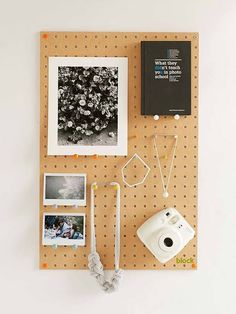 Block Design Wooden Peg Board Displays Your Favorite Items on the Wall