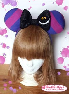 Cheshire Cat inspired Mickey Mouse ears by ShellieMaysCreations