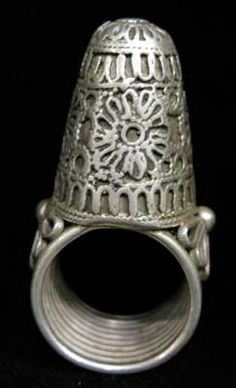Ottoman Silver Ring with Relief Decoration - OS.292 Origin: Turkey Circa: 16 th Century AD to 18 th Century AD