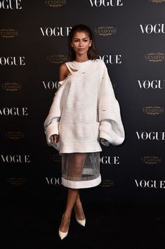 Zendaya attends the Vogue 95th Anniversary Party on October 3, 2015 in Paris, France.