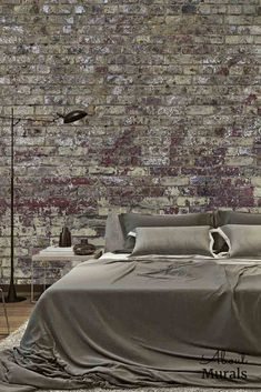 Vintage Brick Wallpaper features distressed, decaying paint over brick. The red brick wallpaper creates an industrial feel in a bedroom, living room or office. Printed on removable wallpaper, the brick wall mural is easy to hang and eco-friendly. S Brick, Brick And Stone, White Brick Wallpaper, Prepasted Wallpaper, Brick Design, Simple Wallpapers, Loft Design, Red Bricks, Wall Murals