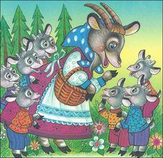 Аудиосказка «Волк и семеро козлят» слушать онлайн Illustrations, Illustration Art, Wolf, Sequencing Cards, Goat Art, Cartoon Sketches, Winter Crafts For Kids, Stories For Kids, Conte