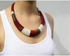 Statement necklace brown necklace ethnic necklace by estudioshop