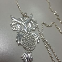 My owl long chained necklace