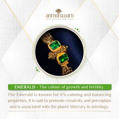 The Emerald bring balance and fertility and are undeniably one of the most beautiful gems known to man. #AsAboveSoBelow