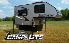 Camplite 5.7 Ultra Lightweight Aluminum Truck Camper- fits smaller trucks like Chevy Colorado