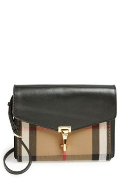 Love the classic check print on this crossbody | Burberry 'Small Macken' Crossbody Bag
