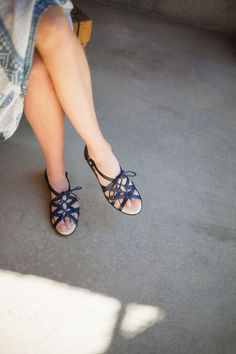 These lace-up moroccan sandals are as comfy as they are stylish!