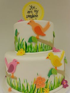 You Are My Sunshine Baby Shower Cake ~ so cute!