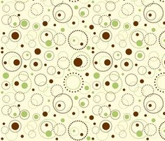Dotted circle fabric