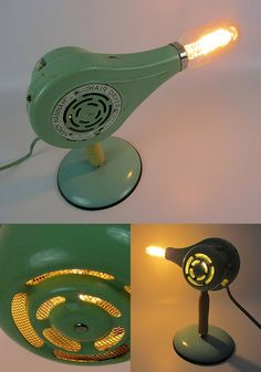 Blow Dryer Lamp by Lunch Lady Vintage | Please subscribe to my weekly newsletter at upcycledzine.com ! #upcycle