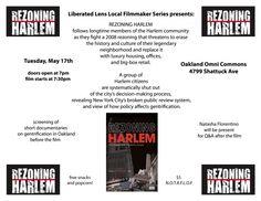 Liberated Lens Screening - Rezoning Harlem