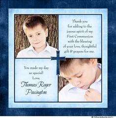 First Communion thank you wording ideas inspired by card verses on First Holy Communion thank you cards! Some favorite First Communion verses, recent First