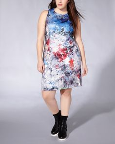 Graffti Prints  mblm Sleeveless Printed Fitted Dressmblm Sleeveless Printed Fitted Dress