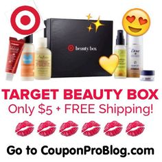 HOT HURRY to CouponProBlog.com to score this NEW Target Beauty Box for ONLY $5 (a $19 Value)! Very limited, so hurry! Limit TWO per box!❤️ - Tag a friend !